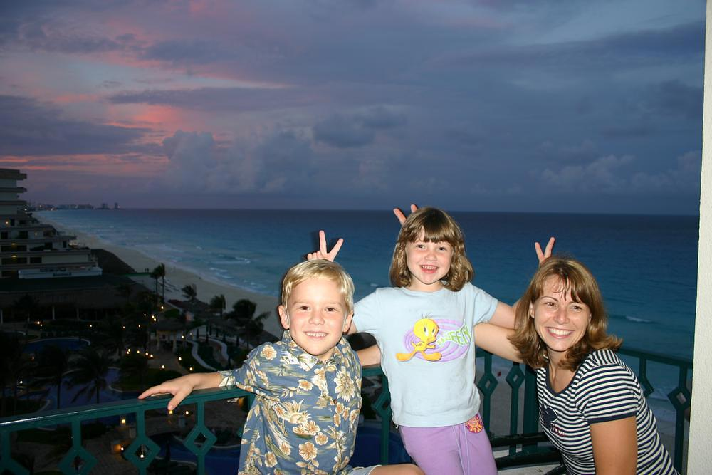 Family in Cancun